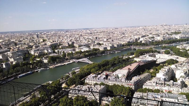 Chegamos a Paris - vista parcial da cidade
