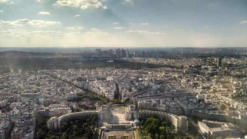 Chegamos a Paris - vista parcial da cidade e do Trocadero