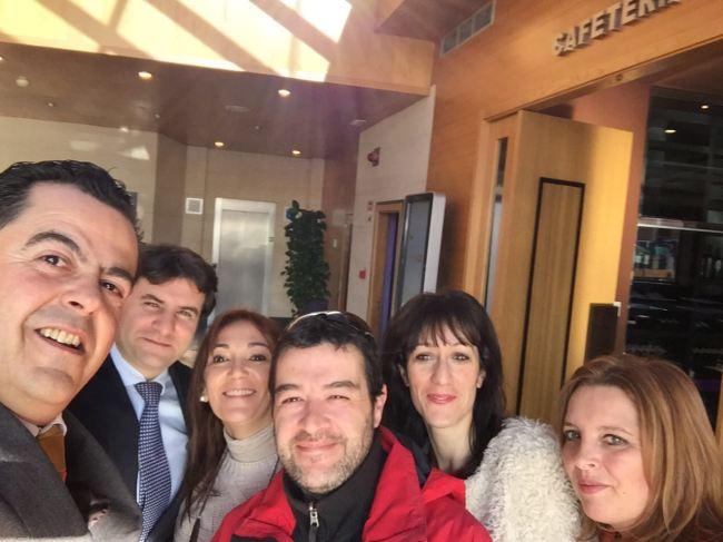 Con el equipo de El Café TV
