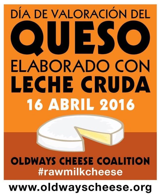 Día valoración del queso elaborado con leche cruda, 2016