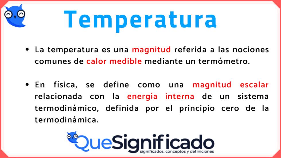 temperatura-significado-definición