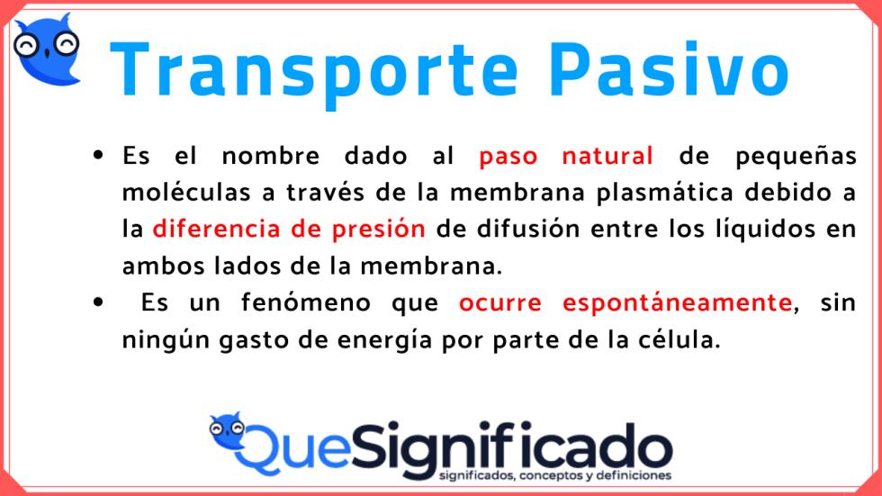 transporte pasivo significado