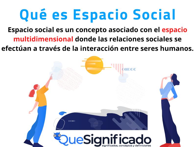 Que es Espacio Social Significado Concepto Definición