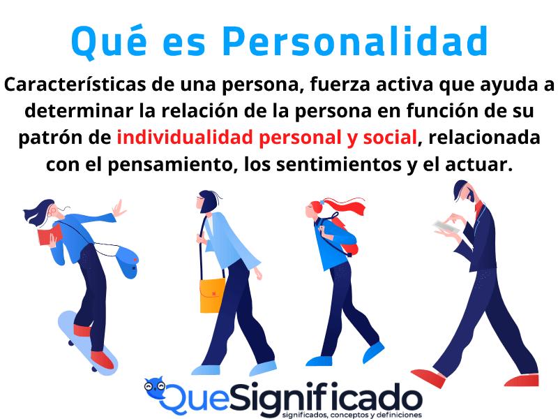 Que es Personalidad Significado Concepto definición