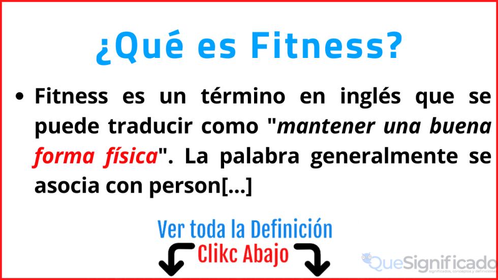 que es fitness significado concepto definicion