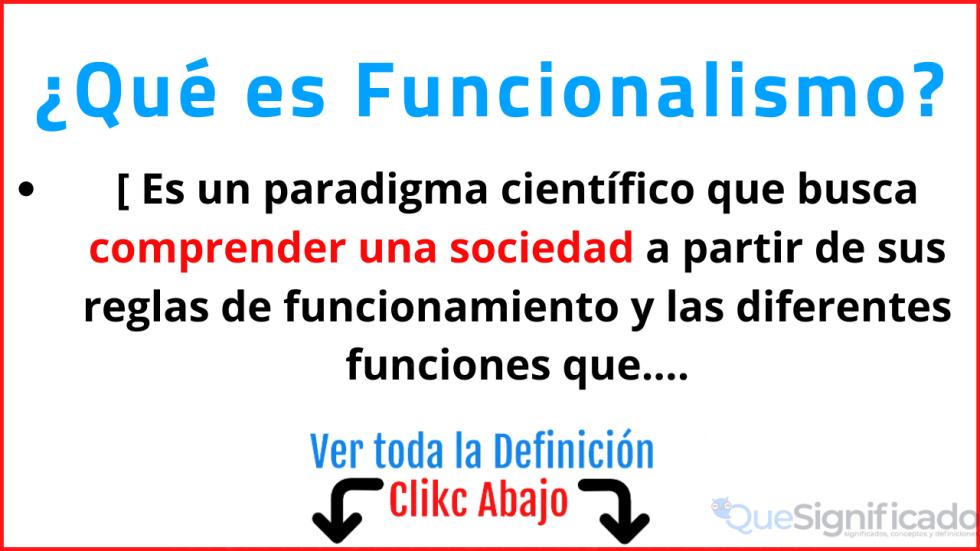que es funcionalismo significado concepto definicion