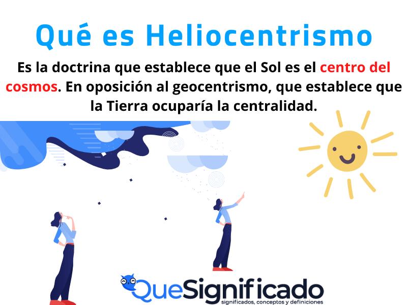que es heliocentrismo significado concepto definicion