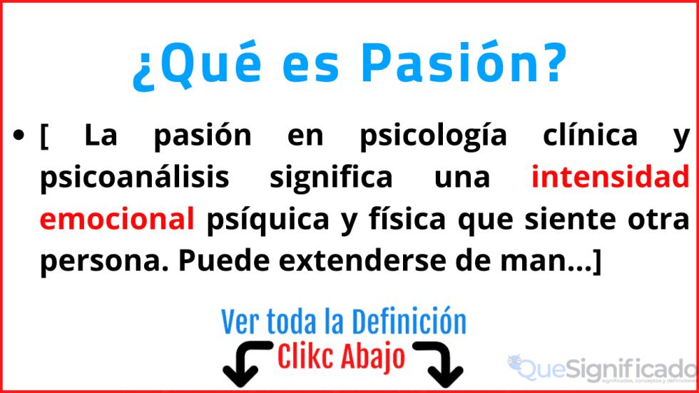 que es pasión significado concepto definición