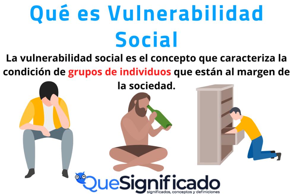 Que es Vulnerabilidad Social Significado Definicion