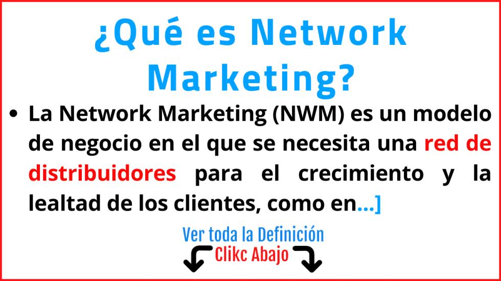 que es La Network Marketing significado concepto tipos ejemplos