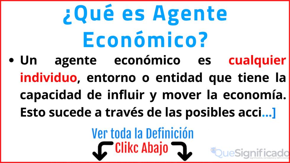 que es agente economico significado tipos ejemplos