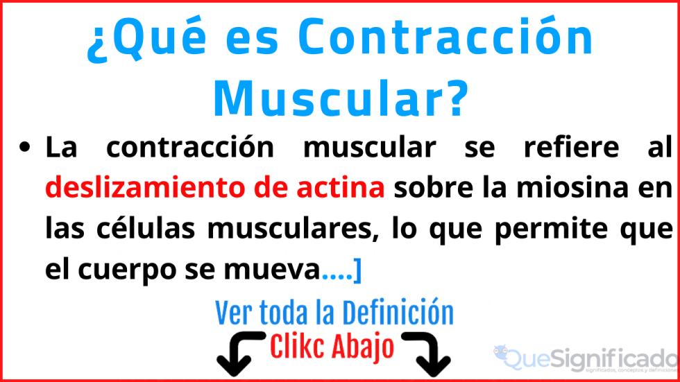 que es contraccion muscular significado concepto defincion