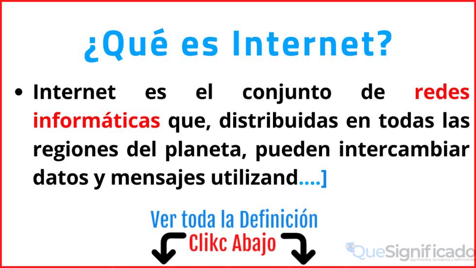 que es internet significado origen historia