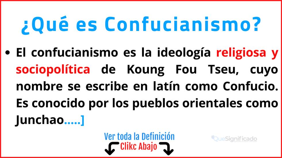 que es confucianismo