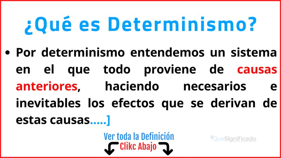 que es determinismo