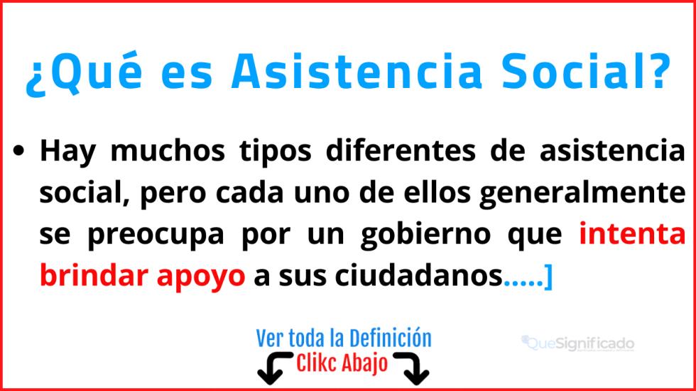Qué es Asistencia Social