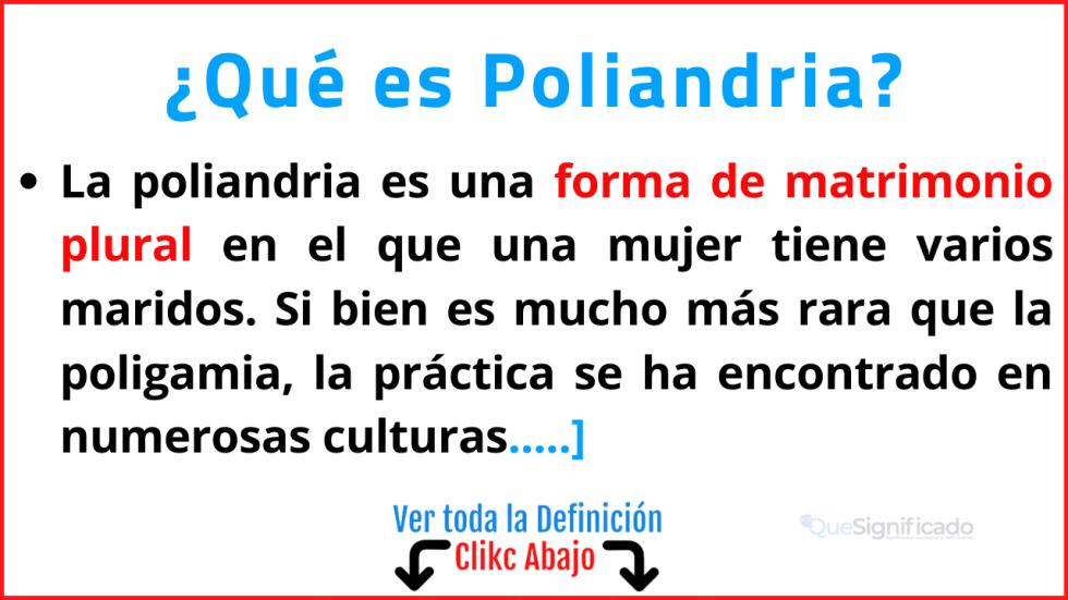 Qué es Poliandria
