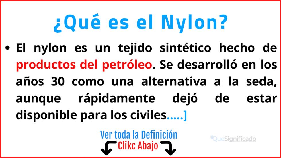 Qué es el Nylon