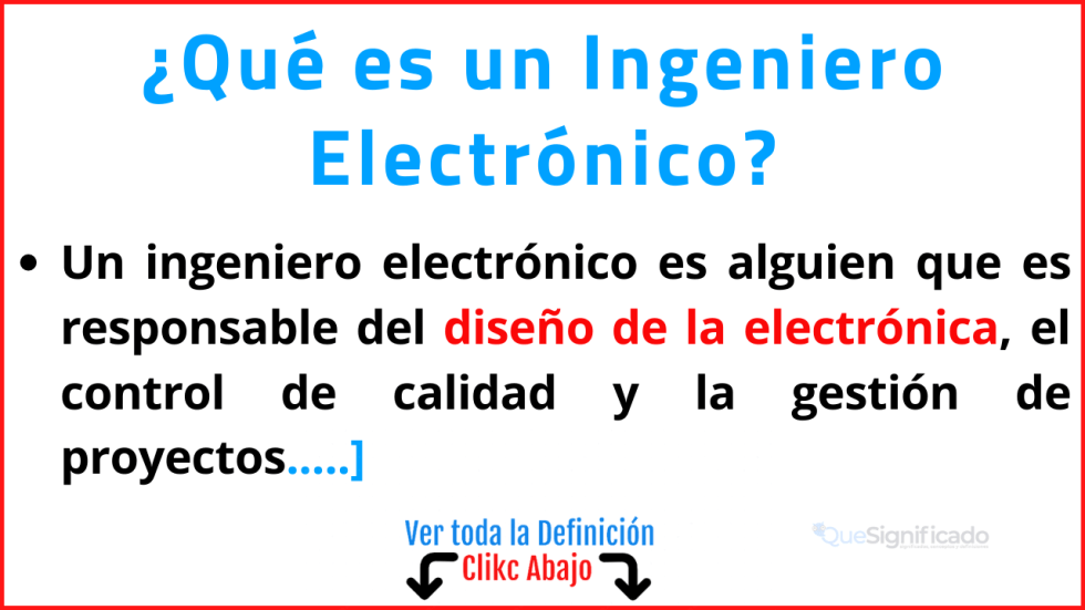 Qué es un Ingeniero Electrónico