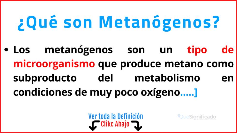 Qué son Metanógenos