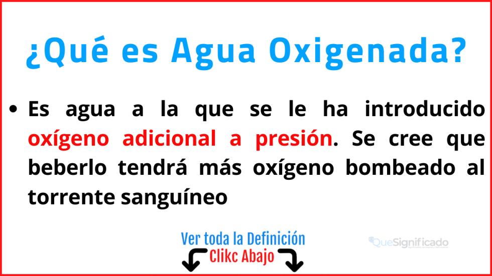 Qué es Agua Oxigenada