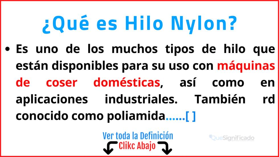 Qué es Hilo Nylon