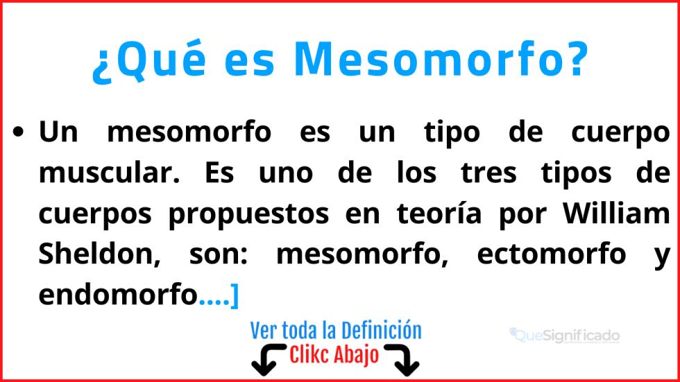 Qué es Mesomorfo