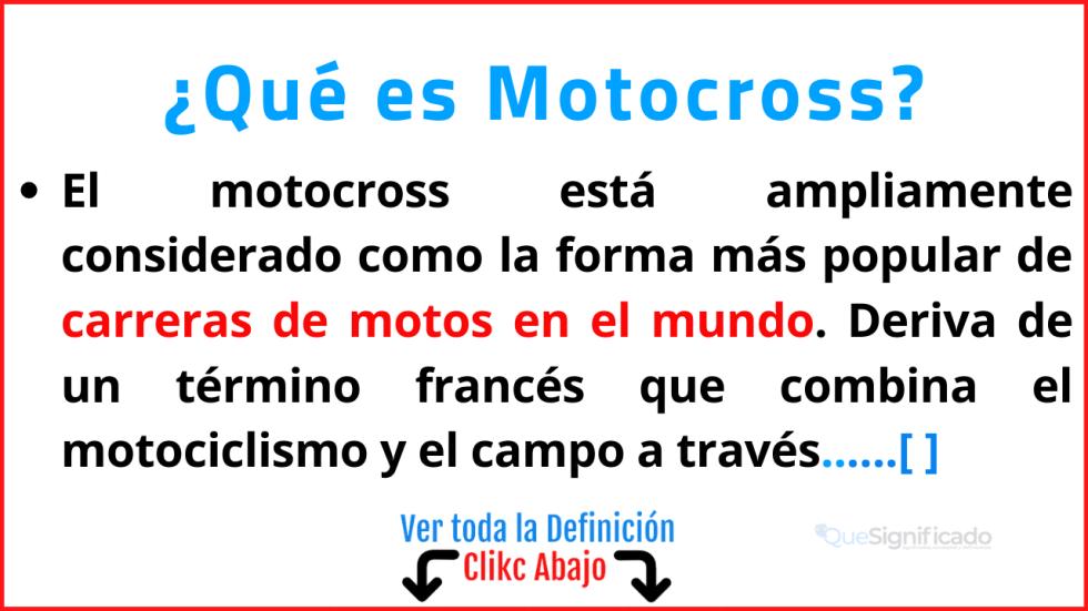 Qué es Motocross