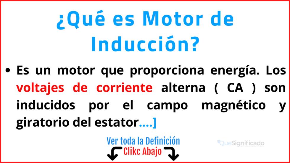 Qué es Motor de Inducción