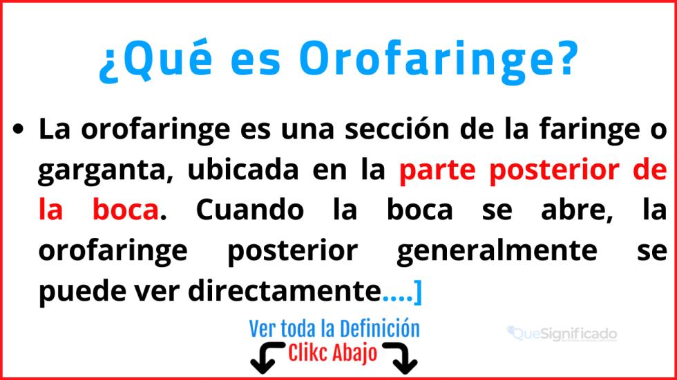 Qué es Orofaringe