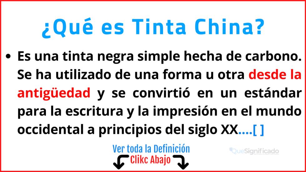 Qué es Tinta China