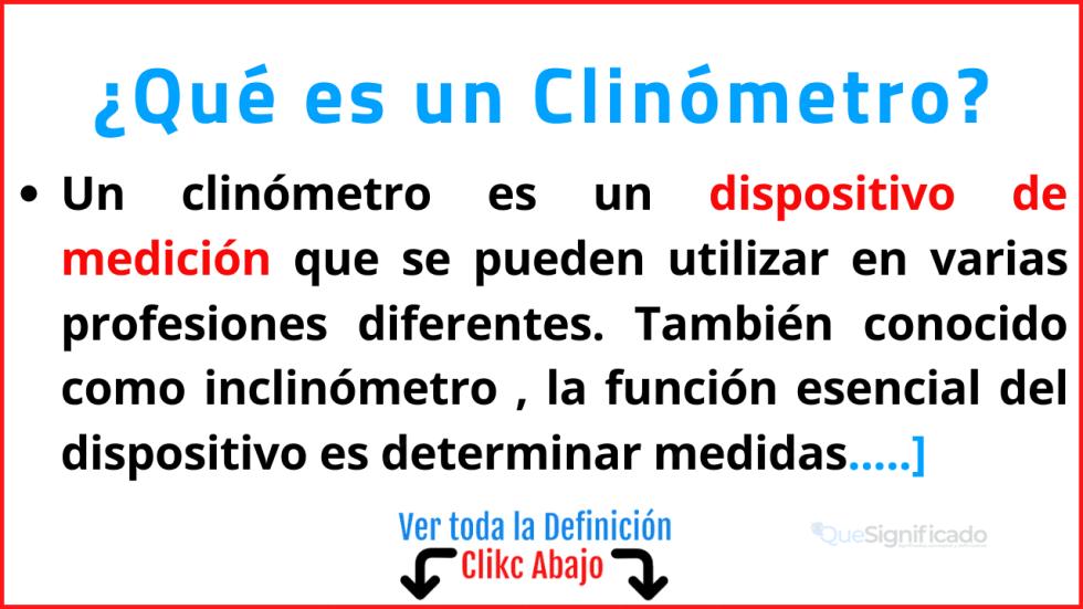 Qué es un Clinómetro