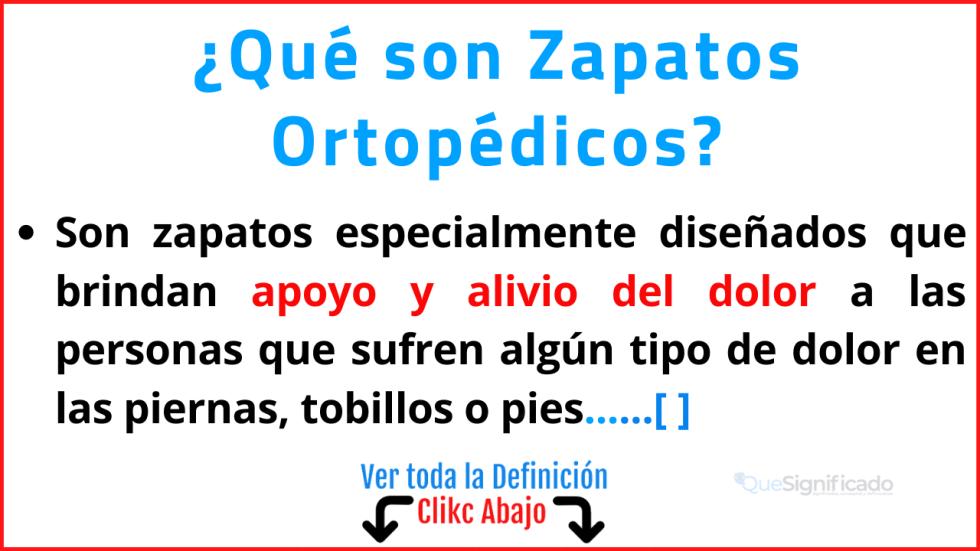 Qué son Zapatos Ortopédicos