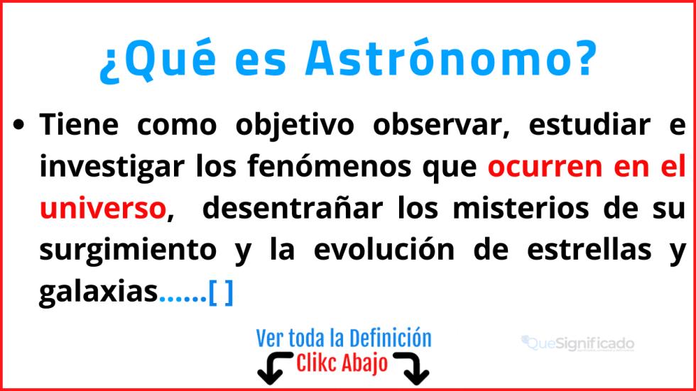 Qué es Astrónomo