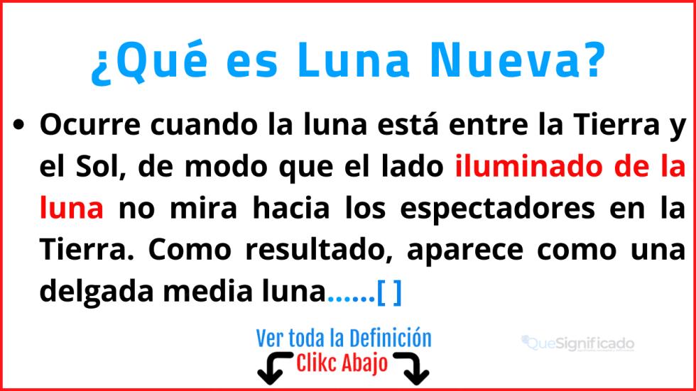 Qué es Luna Nueva