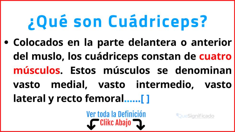 Qué son Cuádriceps