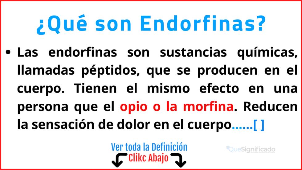 Qué son Endorfinas