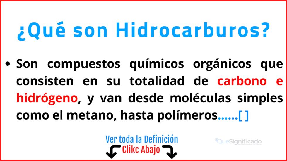Qué son Hidrocarburos