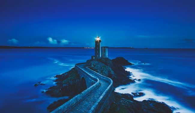 Soñar con el mar azul y tranquilo