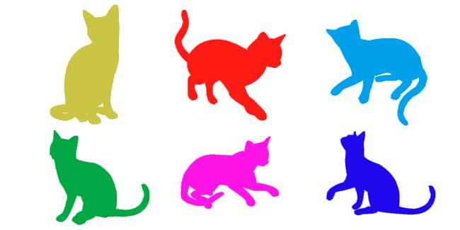 Soñar con gatos de colores