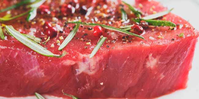 carne cruda fileteada