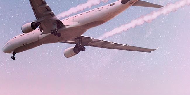 Soñar que se caen aviones