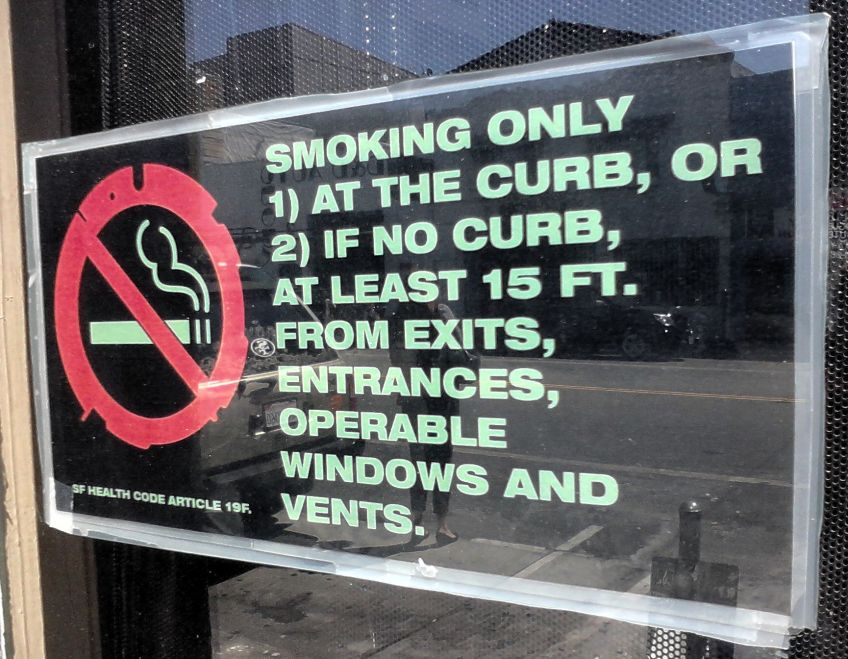 San Francisco's smoking rules at a glance
