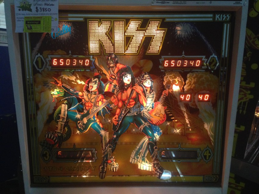 Backglass art for the 1978 KISS pinball game