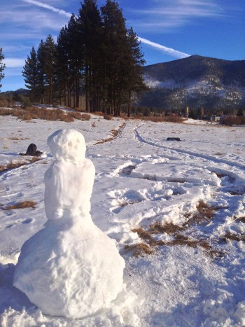 The snowman as I was about to leave Rabe Meadow