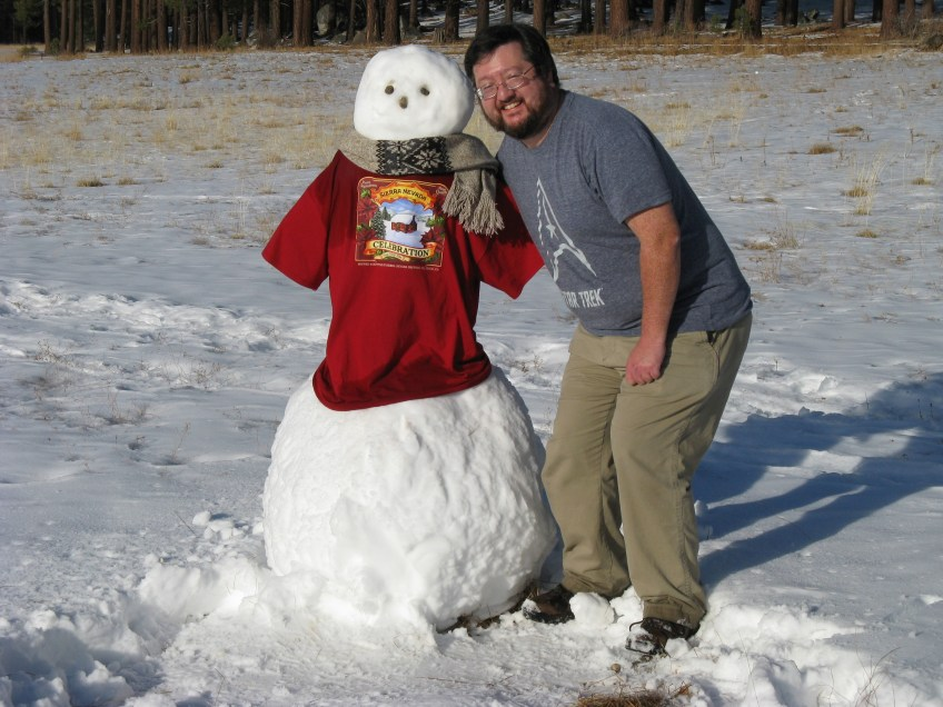The Sierra Nevada Snowman and me.