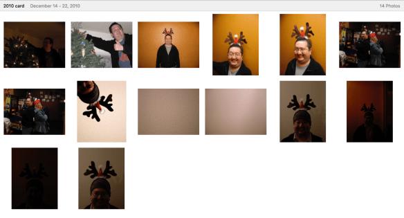 The photos of the 2010 Christmas card
