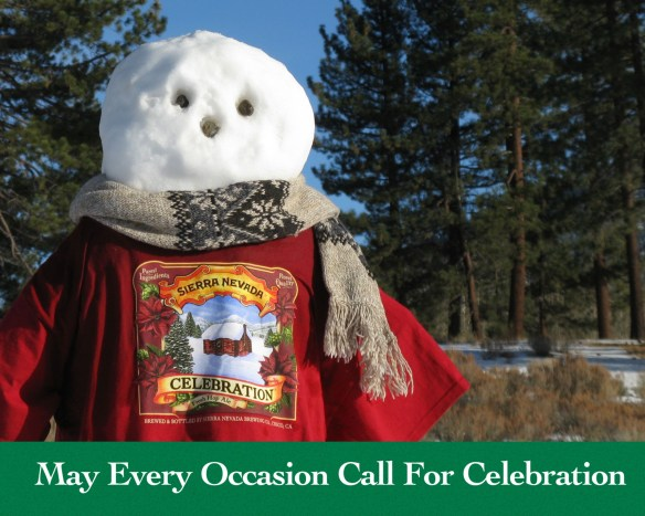 "The 2013 Christmas Card — ""May Every Occasion Call For Celebration."""