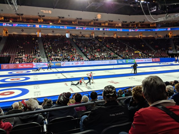Mixed doubles during Draw 5 of the 2019 Continental Cup in Las Vegas on Friday, Jan. 18, 2019.
