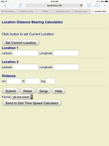 Location Distance Bearing